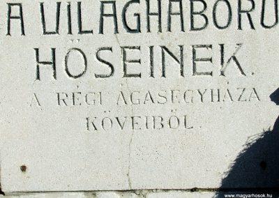 Ágasegyháza I. világháborús emlékmű 2007.10.16. küldő-Markó Péter (1)