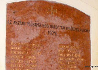 Ászár I. világháborús emléktábla 2012.08.13. küldő-Méri (3)