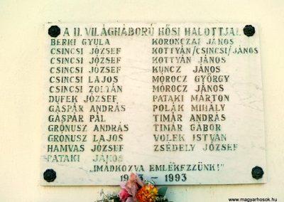 Öskü II.vh emléktábla 2011.03.15. küldő-Csiszár Lehel (2)