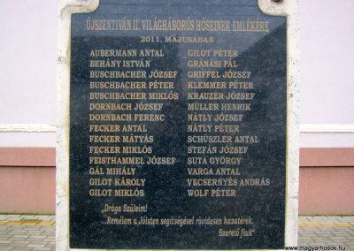 Újszentiván II. világháborús emlékmű 2015.03.14. küldő-Emese (2)