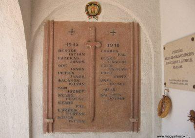Őrbottyán II.vh emléktábla a ref.templom falán 2007.06.11. küldő-Kályhás (2)