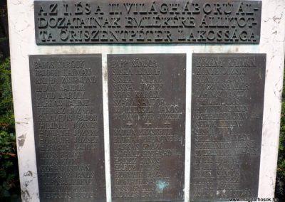 Őriszentpéter világháborús emlékmű 2010.08.13. küldő-Sümec már megvan,cserélni! (3)