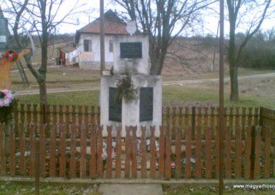 Abaújszolnok világháborús emlékmű 2010.03.27. küldő-megtorlo