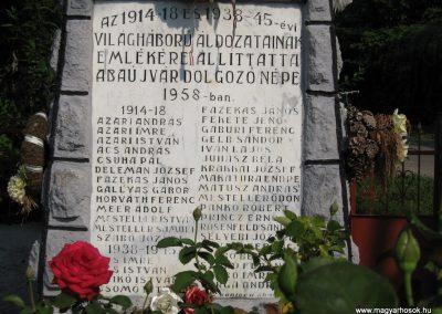 Abaujvár világháborús emlékmű 2009.08.02. küldő-megtorló (1)