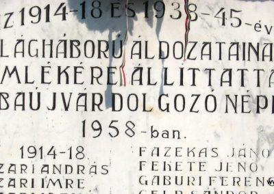 Abaujvár világháborús emlékmű 2009.08.02. küldő-megtorló (2)