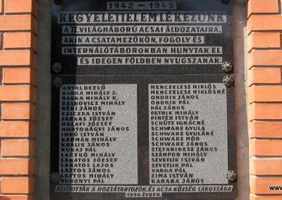 Acsa II.vh emlékmű 2009.09.28. küldő-kalyhas (2)