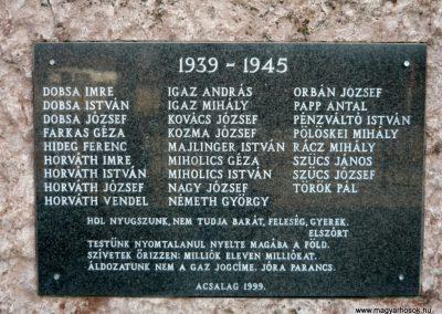Acsalag világháborús emlékmű 2011.02.23. küldő-Ágca (7)