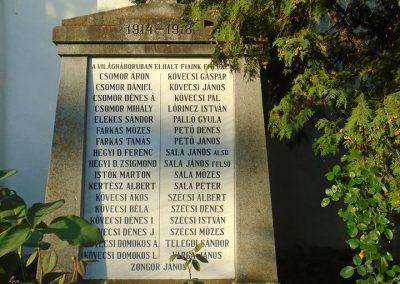 Agyagfalva I. világháborús emlékmű 2015.09.25. küldő-Mónika39