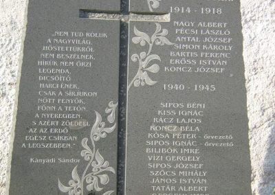 Ajnád világháborús emlékmű 2011.09.21. küldő-Mónika39-né (4)