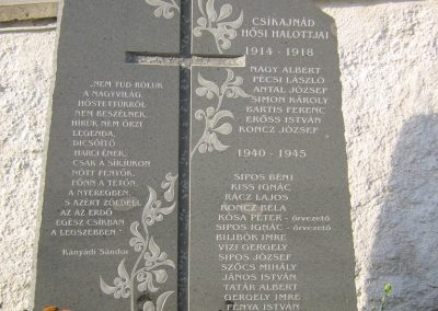 Ajnád világháborús emlékmű 2011.09.21. küldő-Mónika39-né