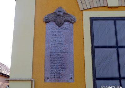 Alcsút I. világháborús emléktáblák 2019.03.23. küldő-Bóta Sándor (1)