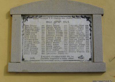 Aldebrő-templom Világháborús emléktáblák 2007.06.11. küldő-Kályhás (2)
