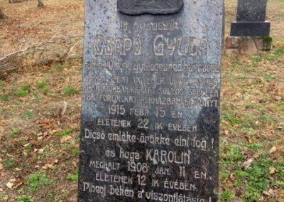 Alsóörs régi temető - I. világháborús katonasírok 2016.11.06. küldő-Csiszár Lehel (1)