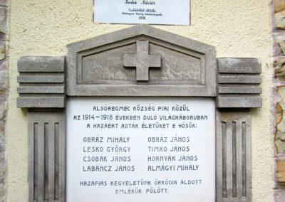 Alsóregmec világháborús emléktáblák 2012.08.17. küldő-kalyhas (3)