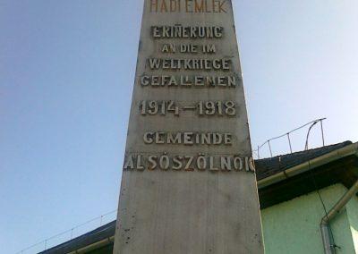 Alsószölnök I.vh emlékmű 2011.04.10. küldő-Csiszár Lehel (1)