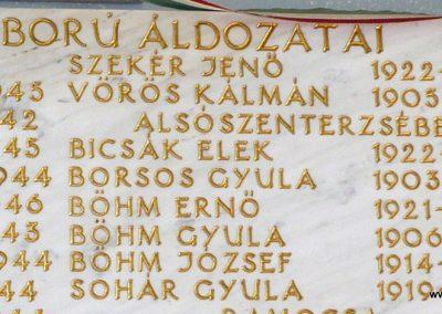 Alsószenterzsébet közös II.világháborús emléktábla Kerkafalván 2009.11.17. küldő-Sümec (1)
