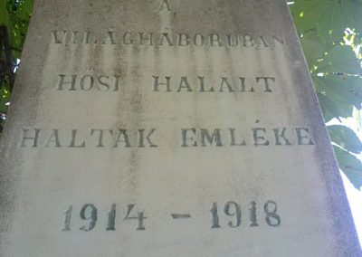 Alsószuha I.világháborús emlékmű 2012.06.21. küldő-Pataki Tamás (1)
