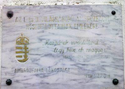 Ambrózfalva világháborús emlékmű 2012.11.13. küldő-Csiszár Lehel (2)