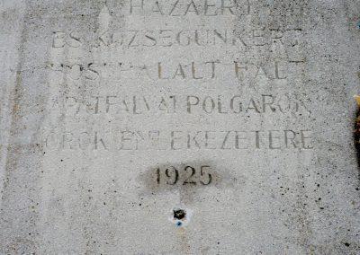 Apátfalva I. világháborús emlékmű 2012.07.13. küldő-Sümec (2)