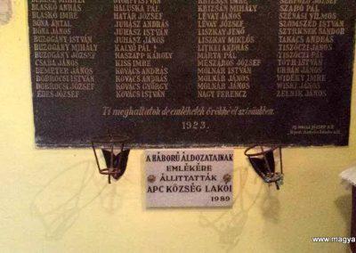 Apc I. világháborús emléktábla 2017.04.17. küldő-Mónika 39 (2)