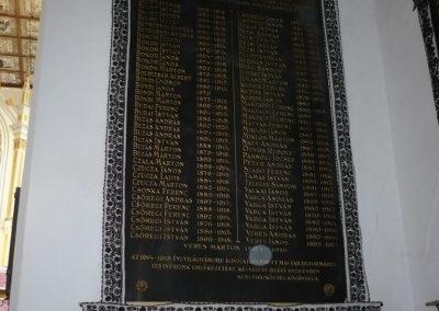 Bánffyhunyad református templom I.vh emléktábla 2008.10.11.küldő-Ágca