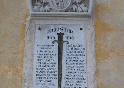 Bátor I.vh emléktábla 2007.12.04. Küldő-Kályhás