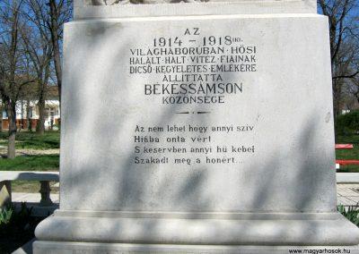 Békéssámson világháborús emlékmű 2017.04.01. küldő-Emese (5)