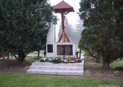 Börzönce világháborús emlékmű 2009.11.21. küldő-Sümec