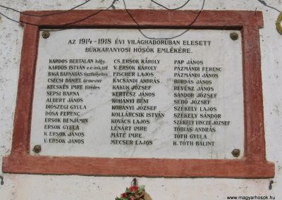 Bükkaranyos világháborús emléktáblák 2007.09.20. küldő-Kályhás (1)