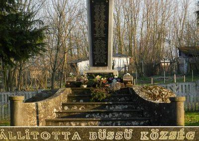 Büssü világháborús emlékmű 2016.03.20. küldő-Huber Csabáné