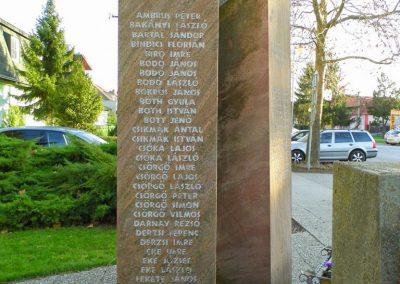 Bős, I. és II. világháborús emlékmű, Felvidék, Pozsony vármegye