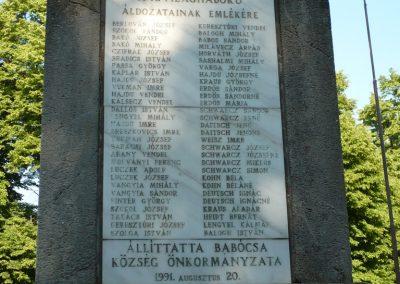 Babócsa világháborús emlékmű 2009.05.12.küldő-Sümec (8)