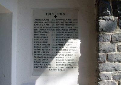 Badacsonytomaj, templom I. világháborús emléktáblák 2012.08.04. küldő-Nerr (1)