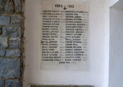 Badacsonytomaj, templom I. világháborús emléktáblák 2012.08.04. küldő-Nerr (4)