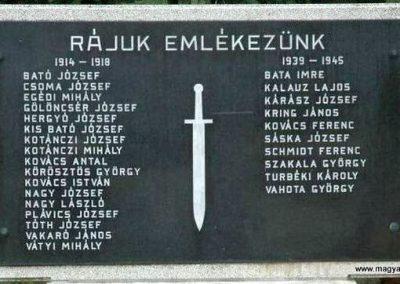 Bakonya világháborús emlékmű 2019.03.04. kldő-Dr.Lázár Gyula Levente (1)