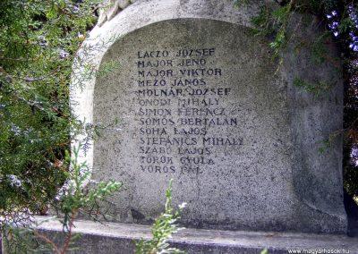 Bakonybánk, I.- II.vh. emlékmű