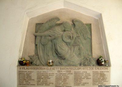 Bakonyoszlop I. világháborús emléktábla 2010.07.22. küldő-kalyhas (1)