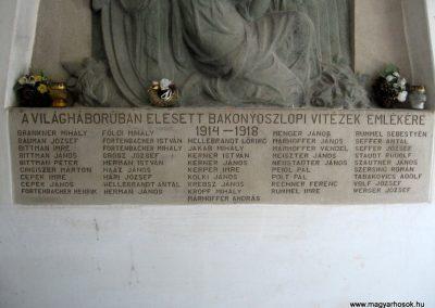 Bakonyoszlop I. világháborús emléktábla 2010.07.22. küldő-kalyhas (3)