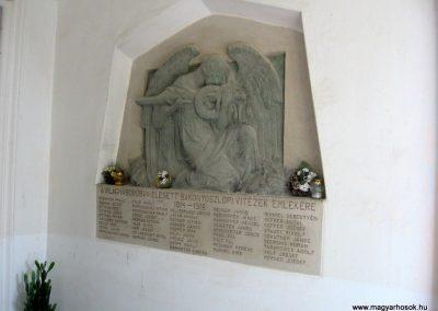 Bakonyoszlop I. világháborús emléktábla 2010.07.22. küldő-kalyhas