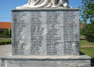 Balástya I. világháborús emlékmű felújítás után 2014.04.21. küldő-Emese (4)