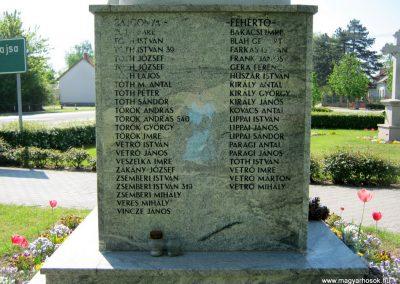 Balástya I. világháborús emlékmű felújítás után 2014.04.21. küldő-Emese (6)