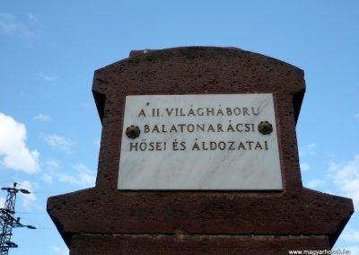 Balatonfüred- Balatonarács világháborús emlékmű 2010.05.29. küldő-Sümec (7)