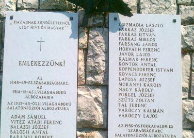 Balatonfűzfő világháborús emlékmű 2011.05.23. küldő-Csiszár Lehel (2)