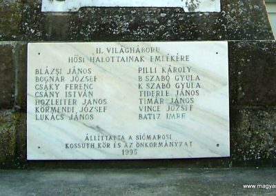 Balatonszabadi-Siómaros világháborús emlékmű 2011.08.24. küldő-Bagoly András (4)