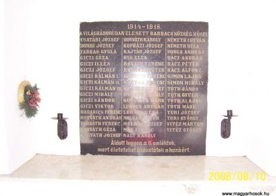 Barbacs világháborús emléktáblák 2008.08.10.küldő-Ancsa84