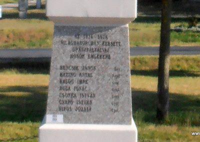 Barcs-Drávapálfalva I. világháborús emlékmű 2015.04.25. küldő-Bagoly András (2)