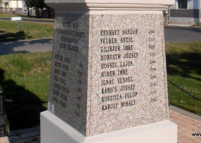 Barcs-Drávapálfalva I. világháborús emlékmű 2015.04.25. küldő-Bagoly András (4)