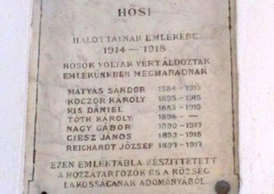 Barnag I. világháborús emléktábla 2016.08.12. küldő-Ágca (3)