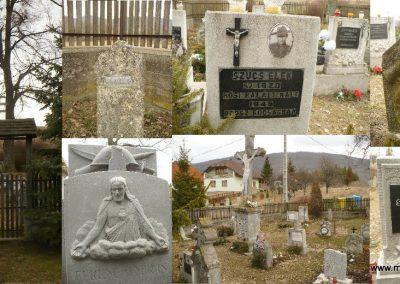 Baskó Világháborús emlékkert. A pléhkrisztus körül minden hősi halált halt katonának van egy kis emlékműve, jelképes sírokkal. 2012.03.14. küldő-Gombóc Arthur