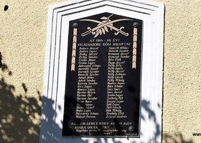 Beled I. világháborús emléktábla 2016.09.30. küldő-Méri (2)